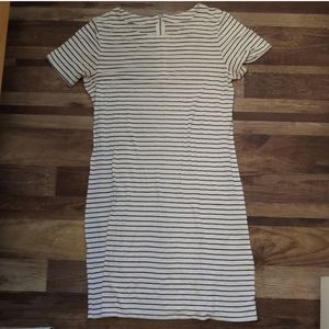 Merona White & Black Stripe T-Shirt Dress